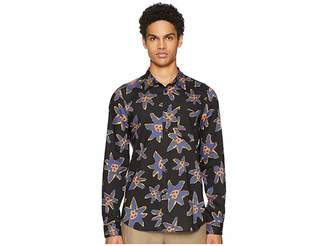 Paul Smith Long Sleeve Abstract Floral Shirt