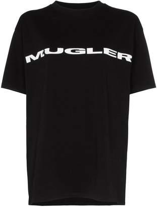 Thierry Mugler contrast logo print cotton t-shirt