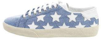Saint Laurent Court Classic Low-Top Sneakers w/ Tags