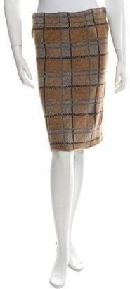 Marni Plaid Pencil Skirt