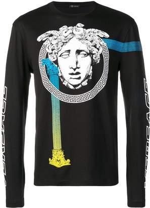 Versace logo longsleeved T-shirt