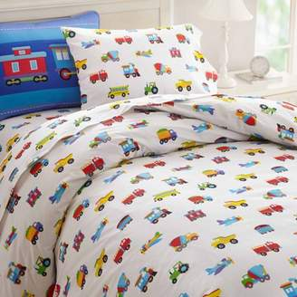 Olive Kids Trains, Planes and Trucks Duvet Cover
