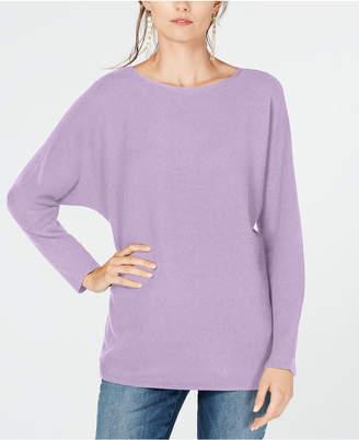 INC International Concepts I.n.c. Dolman-Sleeve Ribbed-Knit Sweater