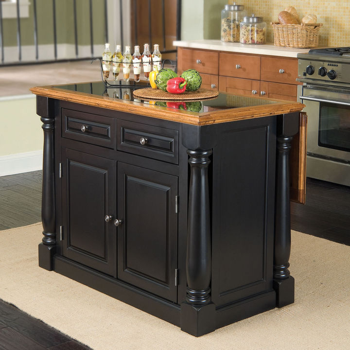 JCPenney Home Styles Drop-Leaf Monarch Kitchen Island with Granite Insert