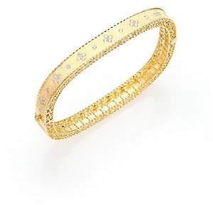 Roberto Coin Women's Princess Diamond & 18K Yellow Gold Bangle Bracelet