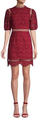 Avantlook Lace Cotton Blend A-Line Dress