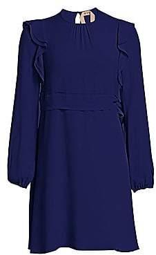 No.21 No. 21 No. 21 Women's Silk Ruffle Mini Dress