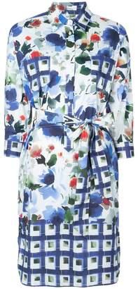 Sara Roka mixed pattern dress