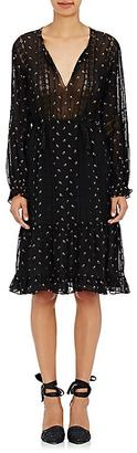 Ulla Johnson Women's Myna Embroidered Georgette Dress $565 thestylecure.com
