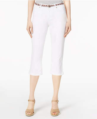 Lee Platinum Concord Belted Capri Jeans
