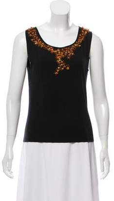 Philosophy di Alberta Ferretti Beaded Sleeveless Top