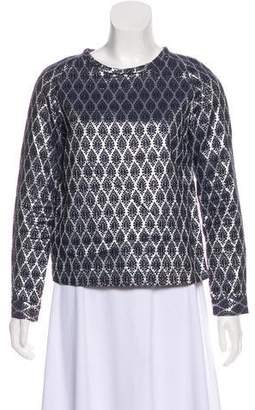Paul & Joe Sister Patterned Metallic Top
