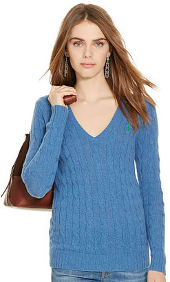 Polo Ralph Lauren Cable-Knit V-Neck Sweater $98.50 thestylecure.com