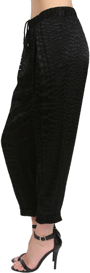 Haute Hippie Drawstring Skinny Pant in Black