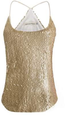 ecc808a3e04057 Anna-Kaci Womens Shimmer All Over Sequin Sparkle Spaghetti Strap Vest Tank  Top