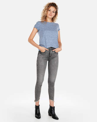 Express One Eleven Heather Crew Neck Slim Tee