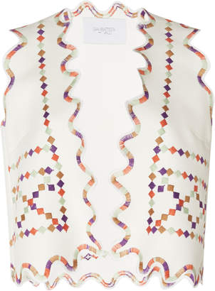 Giambattista Valli Embroidered Scalloped Vest