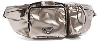 Prada Metallic Nylon Belt Bag - Mens - Silver