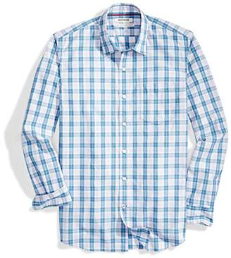 Goodthreads Men's Standard-Fit Long-Sleeve Multi Stripe Plaid Shirt