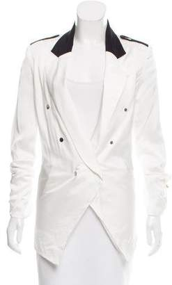 Anthony Vaccarello Satin Notch-Lapel Blazer w/ Tags