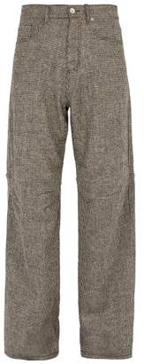 Phipps - Jean Wide Leg Wool Trousers - Mens - Multi
