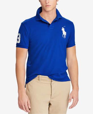 Polo Ralph Lauren Men's Custom Big Pony Slim Fit Mesh Polo