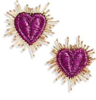Mad Jewels Corazon Statement Post Earrings