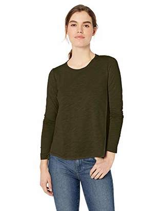 ef61d6acb Daily Ritual Women's Lightweight Lived-In Cotton Long-Sleeve Swing T-Shirt