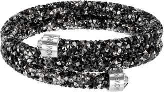 Swarovski Dark Crystal Double Crystaldust Bangle