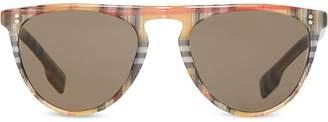 Burberry Vintage Check Keyhole D-shaped Sunglasses