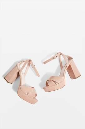 Topshop **Wide fit Leah Platform Heels