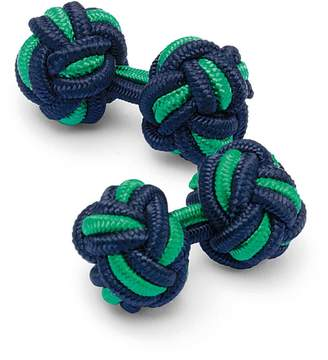 Charles Tyrwhitt Navy and Green Knot Cufflinks