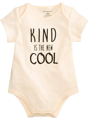 First Impressions Baby Boys Kind Is The New Cool Cotton Bodysuit, Created for Macy's