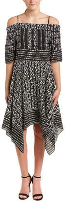 Shoshanna Silk A-Line Dress