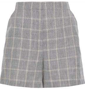 Dagmar House Of Irma Checked Linen-Blend Shorts