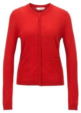 HUGO BOSS Wool Cardigan Fuyuma S Red