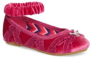 WELLIEWISHERS BY AMERICAN GIRL Emerson Ankle Strap Ballet Flat (Walker, Toddler, Little Kid & Big Kid)