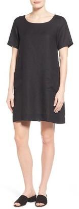 Women's Eileen Fisher Organic Linen A-Line Dress $218 thestylecure.com