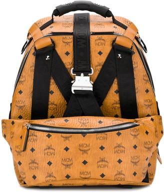 MCM logo textured backpack