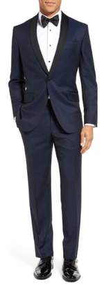 Ted Baker 'Josh' Trim Fit Navy Shawl Lapel Tuxedo