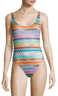 Missoni Mare One-Piece Chevron Swimsuit
