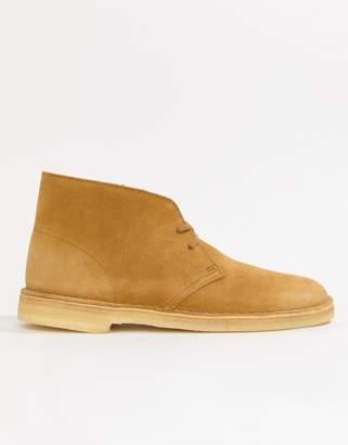 Clarks desert boots in oak suede