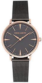 Vince Camuto Women's Rosetone & Gunmetal Mesh Bracelet Watch