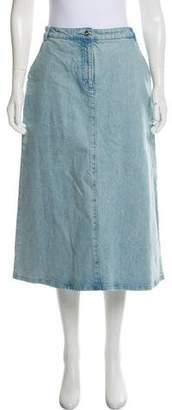 Vanessa Seward Denim Midi Skirt w/ Tags