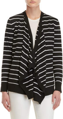 Cable & Gauge Striped Waterfall Open Cardigan