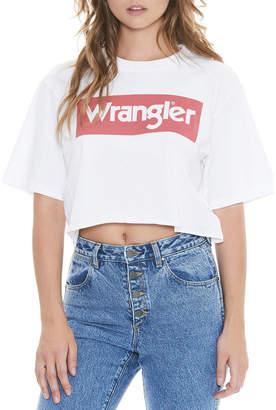 Wrangler Boyfriend Crop Tee White