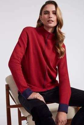 Long Tall Sally Contrast Cuff High Neck Sweater