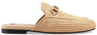 Gucci Princetown raffia slippers