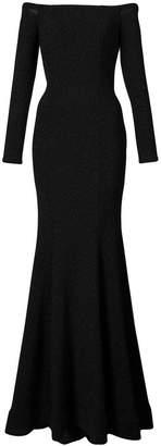 La Femme off-shoulder gown