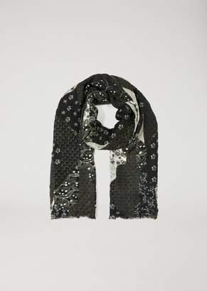 Emporio Armani Scarf In Silk Satin